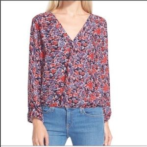 [Joie] Madrina Floral Print Silk Blouse-XS